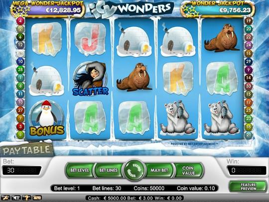 Icy wonders casinospel